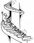 Eine mühsame und steile Treppe