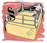 Paragraph und Boxer stehen im Ring