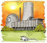 Ein Kernkraftwerk wird abgeschaltet