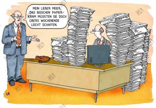 Überlastung am Arbeitsplatz