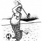 Er verwechselt Golf mit Fußball
