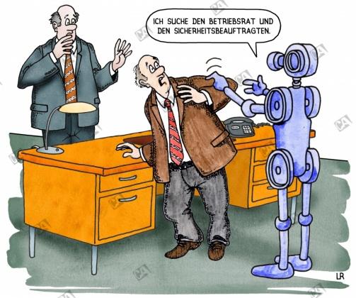 Ein Roboter will zum Betriebsrat