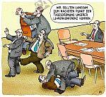 Streit bei der Lehrerkonferenz.