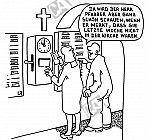 Die Stechuhr am Kircheneingang