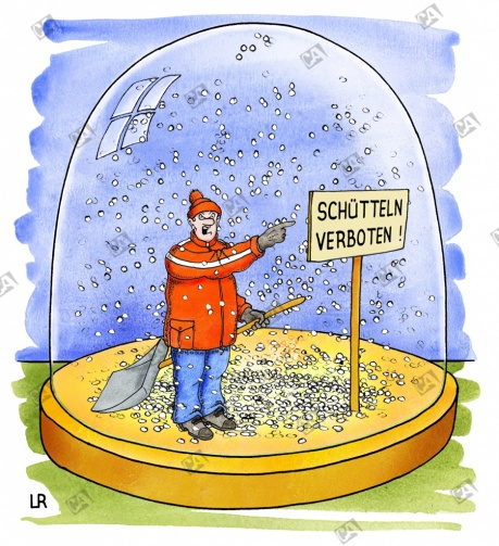 Schneekugel: Schütteln verboten !
