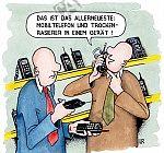 Mobiltelefon und Trockenrasierer