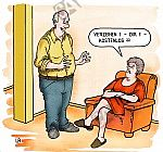 Eine beleidigte Ehefrau
