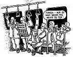 In der Straßenbahn arbeiten