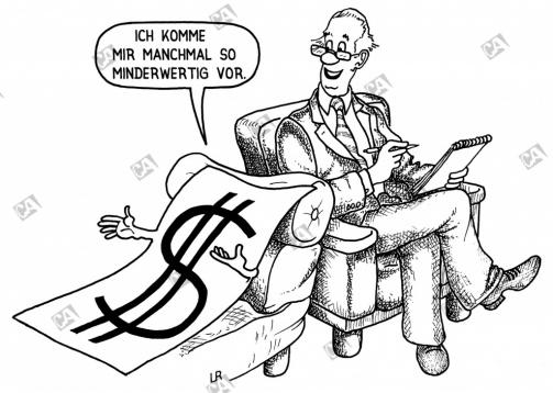 Ein minderwertiger Geldschein