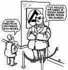 Der Türsteher bei der Agentur für Arbeit