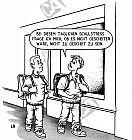Zwei Schüler diskutieren über Schulstress