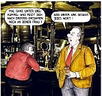 Unterhaltung an der Bar