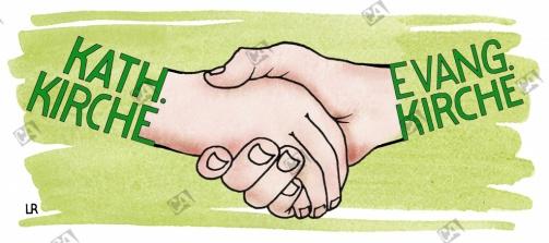 Kirchliches Händeschütteln