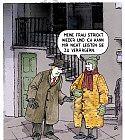 Mann in einem gestrickten Mantel