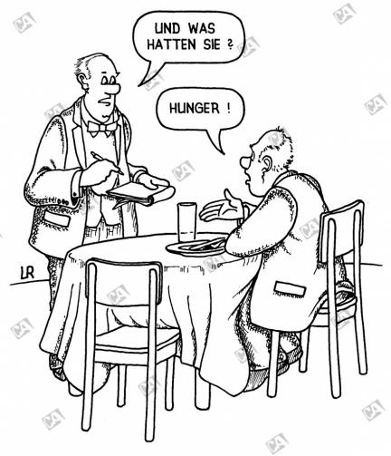 Herr Ober, bitte zahlen !