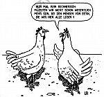 Ein Huhn rechnet nach