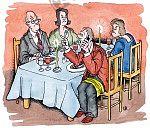 Telefonieren beim Essen