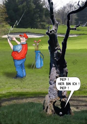 Golfball funkt wo er liegt