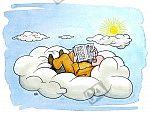 In den Wolken schweben