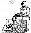 Dollar im Rollstuhl