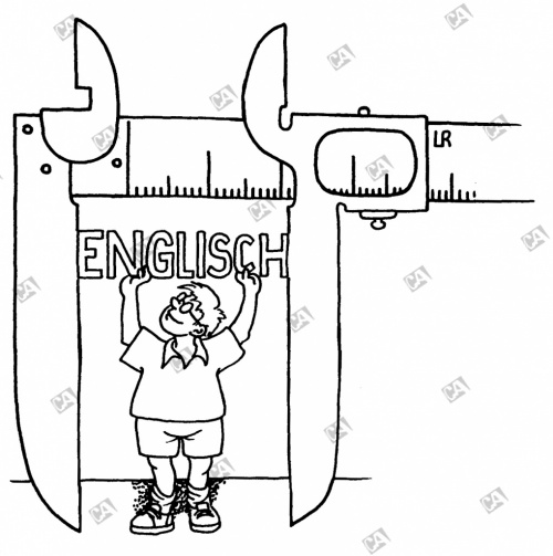 Das Schulfach 'Englisch' wird mit einer Schieblehre gemessen