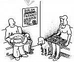 Schwimmente beim Tierarzt