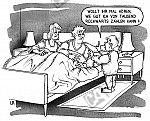 Kind weckt Eltern aus dem Schlaf