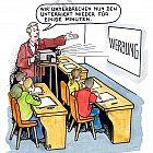 Schulstunde mit Werbe-Pause