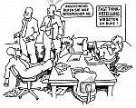Denker bei der Arbeit