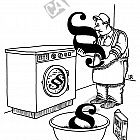 Paragraphen in der Waschmaschine