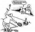 Der zerstreute Tennisspieler