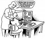 Ein Gottesdienstprogramm im Computer