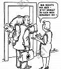 Ein Arzt bringt einen Patienten mit nach Hause