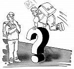 Sprung über Fragezeichen
