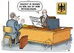 Ein Finanzbeamter rügt einen Steuerzahler