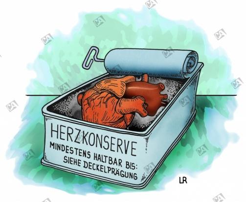 Herz in Konservendose