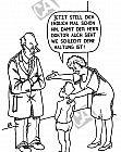 Ein Kind hat eine schlechte Haltung