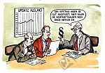 Geschäftsleute verfassen einen Vertrag