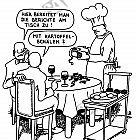 Kochen am Tisch des Gastes