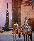 Der Dinkelbauerbrunnen vor dem Münster