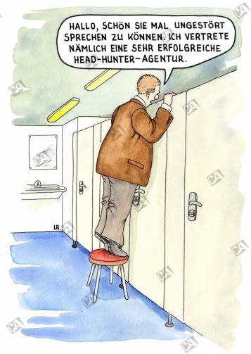 Headhunter auf der Toilette